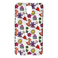 Cute Doodle Wallpaper Pattern Samsung Galaxy Note 3 N9005 Hardshell Case