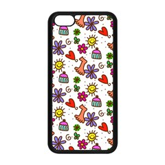 Cute Doodle Wallpaper Pattern Apple iPhone 5C Seamless Case (Black)