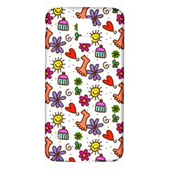 Cute Doodle Wallpaper Pattern Samsung Galaxy S5 Back Case (white)