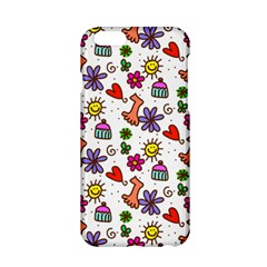 Cute Doodle Wallpaper Pattern Apple iPhone 6/6S Hardshell Case