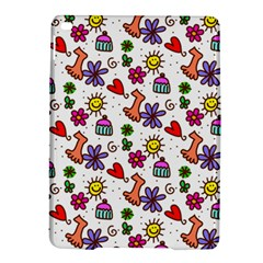 Cute Doodle Wallpaper Pattern iPad Air 2 Hardshell Cases