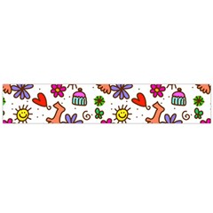 Cute Doodle Wallpaper Pattern Flano Scarf (large)