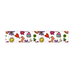 Cute Doodle Wallpaper Pattern Flano Scarf (Mini)