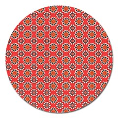 Floral Seamless Pattern Vector Magnet 5  (Round)
