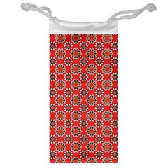 Floral Seamless Pattern Vector Jewelry Bag