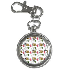 Handmade Pattern With Crazy Flowers Key Chain Watches