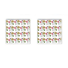 Handmade Pattern With Crazy Flowers Cufflinks (Square)