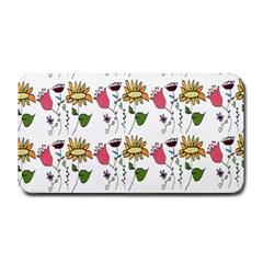 Handmade Pattern With Crazy Flowers Medium Bar Mats