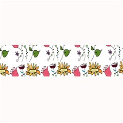 Handmade Pattern With Crazy Flowers Large Bar Mats