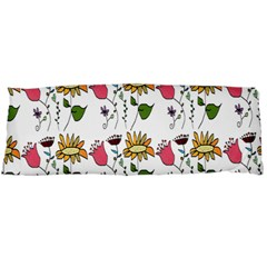 Handmade Pattern With Crazy Flowers Body Pillow Case Dakimakura (two Sides)