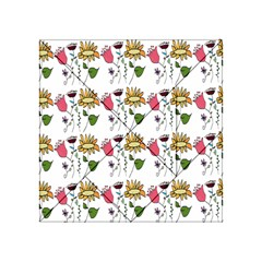Handmade Pattern With Crazy Flowers Acrylic Tangram Puzzle (4  X 4 )