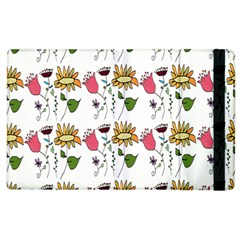 Handmade Pattern With Crazy Flowers Apple Ipad 2 Flip Case