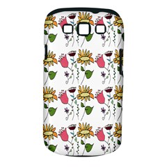 Handmade Pattern With Crazy Flowers Samsung Galaxy S III Classic Hardshell Case (PC+Silicone)