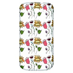Handmade Pattern With Crazy Flowers Samsung Galaxy S3 S III Classic Hardshell Back Case