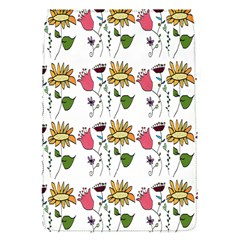 Handmade Pattern With Crazy Flowers Flap Covers (S)