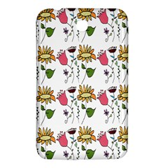 Handmade Pattern With Crazy Flowers Samsung Galaxy Tab 3 (7 ) P3200 Hardshell Case