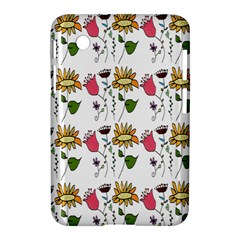 Handmade Pattern With Crazy Flowers Samsung Galaxy Tab 2 (7 ) P3100 Hardshell Case