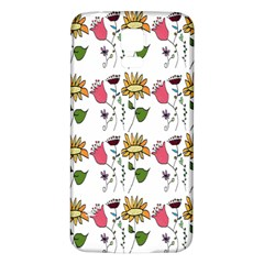 Handmade Pattern With Crazy Flowers Samsung Galaxy S5 Back Case (white)