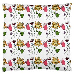 Handmade Pattern With Crazy Flowers Standard Flano Cushion Case (one Side)