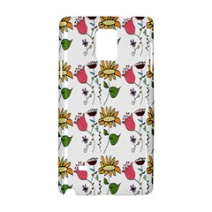 Handmade Pattern With Crazy Flowers Samsung Galaxy Note 4 Hardshell Case