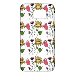 Handmade Pattern With Crazy Flowers Galaxy S6
