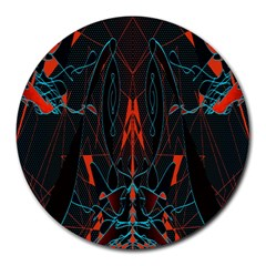 Doodle Art Pattern Background Round Mousepads