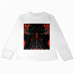 Doodle Art Pattern Background Kids Long Sleeve T-Shirts