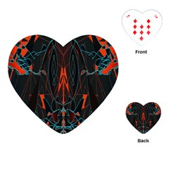 Doodle Art Pattern Background Playing Cards (heart)
