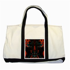 Doodle Art Pattern Background Two Tone Tote Bag
