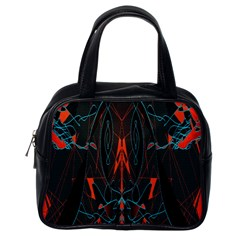 Doodle Art Pattern Background Classic Handbags (One Side)