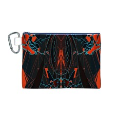 Doodle Art Pattern Background Canvas Cosmetic Bag (M)