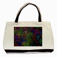 Grunge Rose Background Pattern Basic Tote Bag