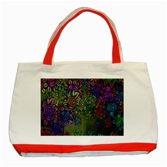Grunge Rose Background Pattern Classic Tote Bag (red)