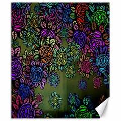 Grunge Rose Background Pattern Canvas 20  X 24