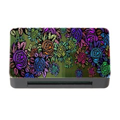 Grunge Rose Background Pattern Memory Card Reader With Cf