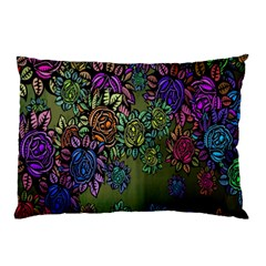 Grunge Rose Background Pattern Pillow Case (two Sides)