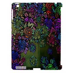 Grunge Rose Background Pattern Apple iPad 3/4 Hardshell Case (Compatible with Smart Cover)
