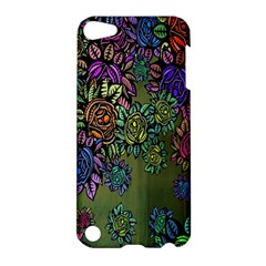 Grunge Rose Background Pattern Apple Ipod Touch 5 Hardshell Case