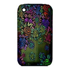 Grunge Rose Background Pattern Iphone 3s/3gs