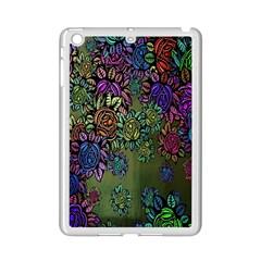 Grunge Rose Background Pattern iPad Mini 2 Enamel Coated Cases
