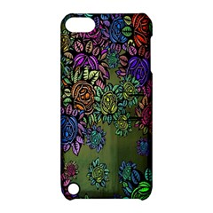 Grunge Rose Background Pattern Apple Ipod Touch 5 Hardshell Case With Stand