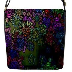 Grunge Rose Background Pattern Flap Messenger Bag (S)