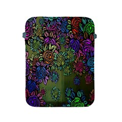 Grunge Rose Background Pattern Apple iPad 2/3/4 Protective Soft Cases