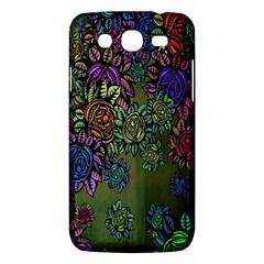 Grunge Rose Background Pattern Samsung Galaxy Mega 5 8 I9152 Hardshell Case