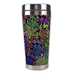 Grunge Rose Background Pattern Stainless Steel Travel Tumblers