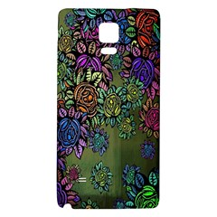Grunge Rose Background Pattern Galaxy Note 4 Back Case
