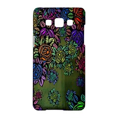 Grunge Rose Background Pattern Samsung Galaxy A5 Hardshell Case