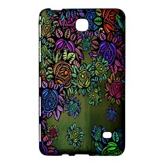 Grunge Rose Background Pattern Samsung Galaxy Tab 4 (8 ) Hardshell Case