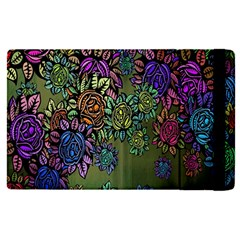 Grunge Rose Background Pattern Apple Ipad Pro 9 7   Flip Case