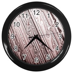 Vintage Pattern Background Wallpaper Wall Clocks (Black)